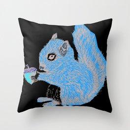 Squirrel in Colour Throw Pillow