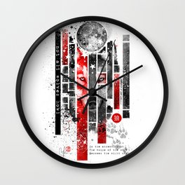 Not all wolves howl Wall Clock