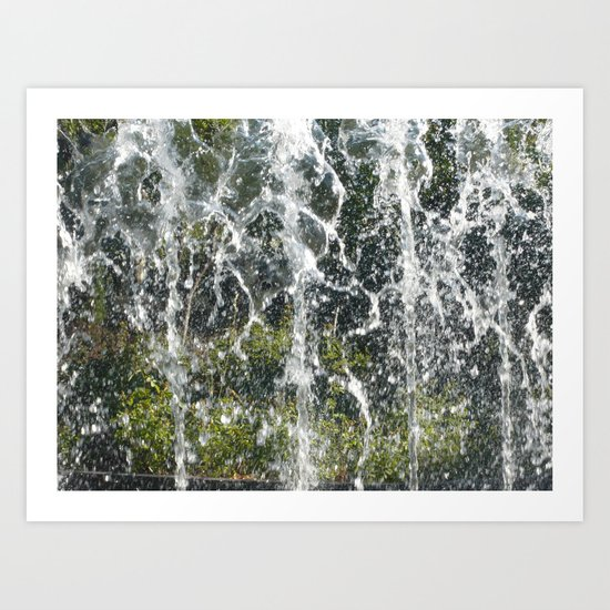 Splash Fountain Art Print