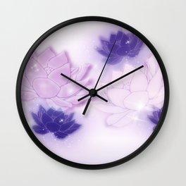 Lotus in Twilight Wall Clock