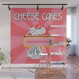 cheese cakes mania Wall Mural