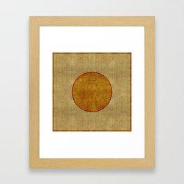"""Golden Circle Japanese Inspiration"" Framed Art Print"