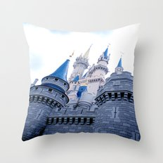 Disney Castle In Color Throw Pillow