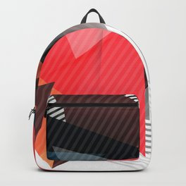 Fashion Triangle Abstract Geometric Pattern Backpack