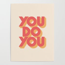 You Do You Block Type Poster