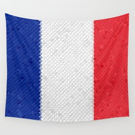 France Flag Mosaic Wall Tapestry