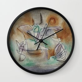 Paul Klee - Howling Dog Wall Clock