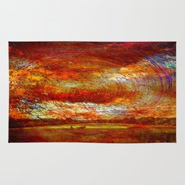 Work on the fields Abstract Rug