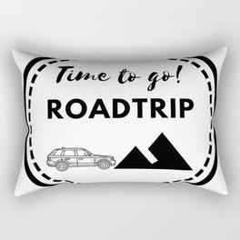 Tiempo de viajar | Time to go Roadtrip Rectangular Pillow