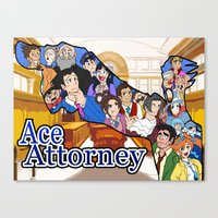 ace attorney Canvas Prints featuring Ace Attorney  by Derede (RM Prod)