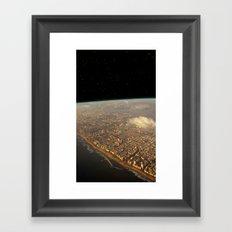 Earth Space Framed Art Print