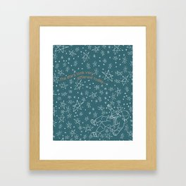 The Stars Look Very Different Today... Framed Art Print