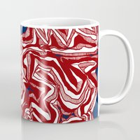 american Mugs featuring American Flag by Brontosaurus