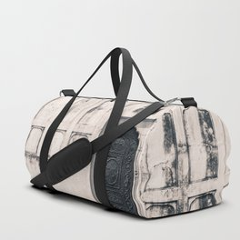 Mughal Indian Black and White Architecture in Red Fort, New Delhi Duffle Bag