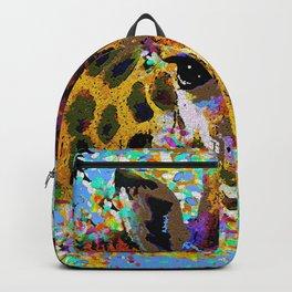 Giraffe Oil Painting Backpack