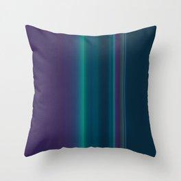 Royal Purple Aqua Stripes Throw Pillow
