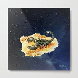 Scorpio and Night Sky Metal Print