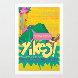 YIKES! poster Art Print