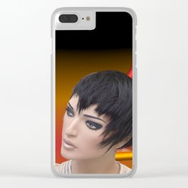 make up your mind Clear iPhone Case