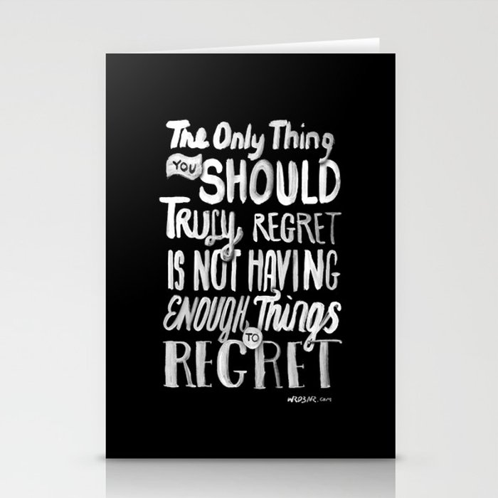 TRULY REGRET Stationery Cards