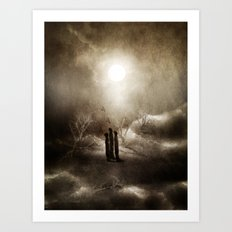 The cult of the moon Art Print