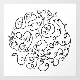 Conversation Loops Art Print