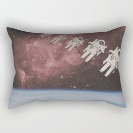 ASTRONAUT TRAVELING THROUGH TIME AND SPACE Rectangular Pillow