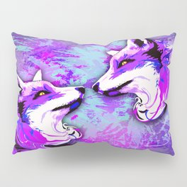 Purple Fox Spirit Pillow Sham