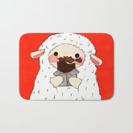 Chocolate Lamb Bath Mat