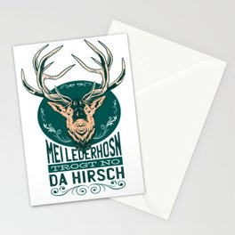 My leather pants carries only the deer Bavarian Stationery Cards