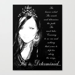 She is Determined Canvas Print