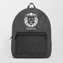 MAGA Make America Great Again USA Lion black grunge Backpack