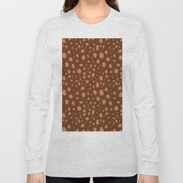Painterly Dots in Brown + Terracotta Long Sleeve T-shirt