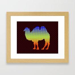 Polka dot two humps camel Framed Art Print