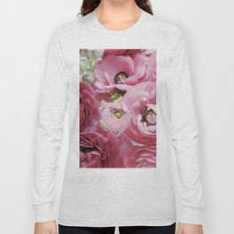 Bloom Sweetly - Rose Pink Long Sleeve T-shirt