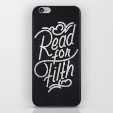 Read For Filth iPhone & iPod Skin
