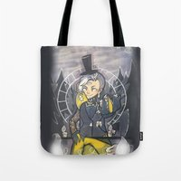 bill cipher Tote Bags featuring Human Bill Cipher by Kurodoj