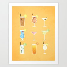 Mixed Drinks Art Print