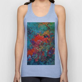 red poppies fantasy Unisex Tank Top