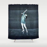 dance Shower Curtains featuring dance by Priscila Arandiga