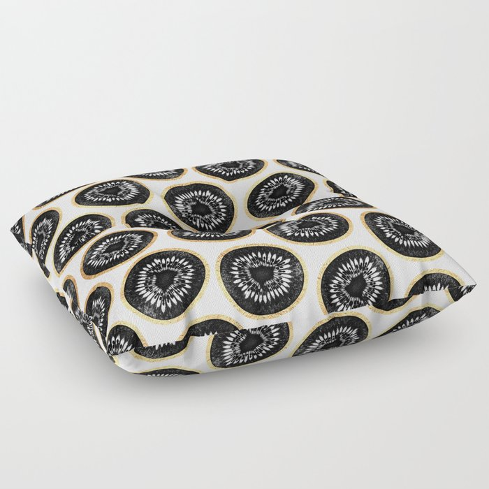 Black  Gold Kiwi Pattern