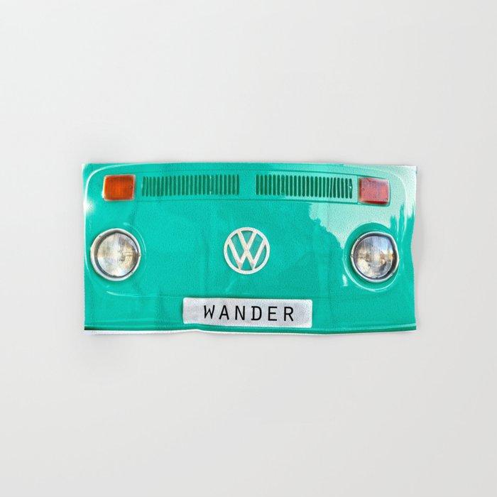 Wander wolkswagen. Summer dreams. Green Hand & Bath Towel