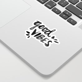 Good Vibes – Black Ink Sticker