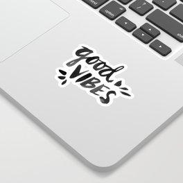 Good Vibes – Black Ink Sticker