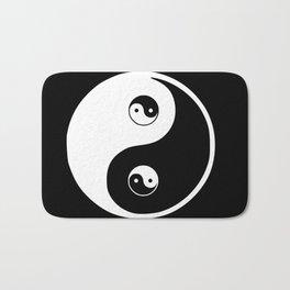 Ying yang the symbol of harmony and balance- good and evil Bath Mat
