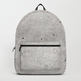 Smooth Concrete Small Rock Holes Light Brush Pattern Gray Textured Pattern Backpack