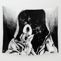 wizard Wall Tapestries featuring Space Wizard  by Rat Prince