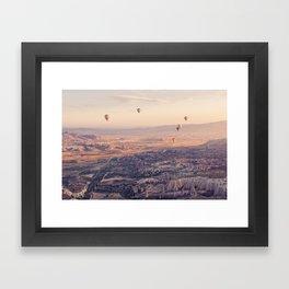 Sunrise Hot Air Balloon Flight Framed Art Print