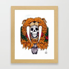 Bear Bones Framed Art Print