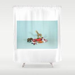 Grandma's Animals Shower Curtain
